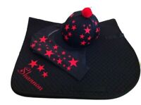 Black/red Cross Country Colours Horse Riding Set
