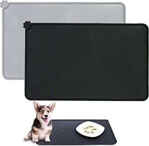 Dog & Cat Food Silicone Non-Slip Pet Bowl Mat Pet Feeding Mat Waterproof Dog Mat