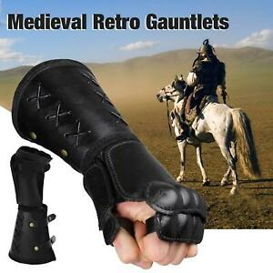 Mens Bracers Retro Medieval Renaissance PU Leather Wind Stage Costume Props
