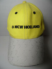 NEW HOLLAND AGRICULTURAL MACHINERY Logo Advertising ADVERTISING HAT YELLOW CAP