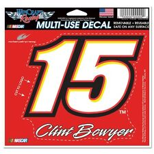 Clint Bowyer 2015 Wincraft #15 Michael Waltrip Racing 4.5x5.75 Multi Use Decal