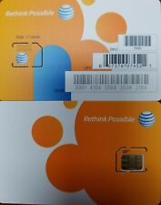 At&T Factory Micro 4G sim card sku72290/40954 New Ready to Activate