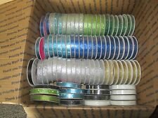 "HUGE Lot of  3/8""+ 1/4"" Ribbon, 167 new rolls"
