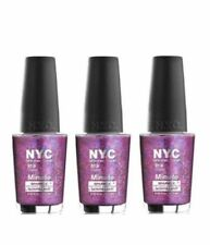 3 PACK New York Color (NYC) Minute Nail Polish BIG CITY DAZZLE New Sealed PG-169