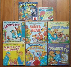 The Berenstain Bears Paperback Book Lot of 8 Books (1981-2008) by STAN & JAN