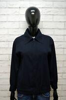Giacca Donna MARELLA Taglia L Blazer Jacket Woman Blu Vintage Giubbotto Giubbino