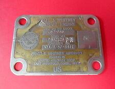 PRATT & WHITNEY J-57 TURBOJET ENGINE DATA PLATE (B-52,F-100,F-102)