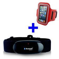 BLUETOOTH BRUSTGURT für WAHOO Blue HR App + ARMBANDTASCHE rot iPhone 5/5S/6/6S/7