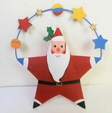 Vintage Dept 56 Christmas Juggling Santa Ornament with Star Deco