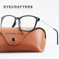 Women Men Fashion Metal Clear Lens Eyeglass Frames Retro Full Frame Spectacles