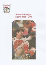 ANDERS LIMPAR ARSENAL 1990-1994 ORIGINAL HAND SIGNED MAGAZINE CUTTING