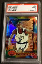 1993 DEE BROWN TOPPS FINEST REFRACTOR #88  PSA MINT 9 CELTICS