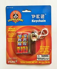 Looney Tunes Taz Tasmanian Devil Pez Keychain by Basic Fun 2000 NRFP