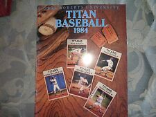 1984 ORAL ROBERTS TITANS BASEBALL MEDIA GUIDE Yearbook University Titan Press AD
