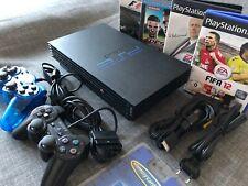 Sony Playstation 2 Fat / PS2 Schwarz ? inkl. Zubehörpaket!
