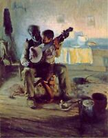 """The Banjo Lesson"" by Henry Ossawa Tanner. Music Repro on Canvas or Paper"