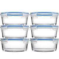 Glass Meal Prep Food Storage Containers (6-Pack 30 Oz) Oven Safe Portion Control