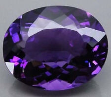 28.35CT AAA Natural Purple Amethyst Gems Oval Faceted Cut 20x15MM VVS Loose Gems