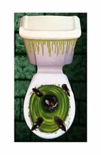 Halloween Toilet Seat Lid & Cistern Cover Scary Rats Party Decoration Free p/p