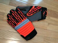 NEW Meta Miner 499 Gloves LARGE Smooth Palm Hi-Viz Metacarpol PPE Illinois Glove