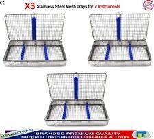 3Pcs Wire Mesh 7 Instrument Sterilization Trays for Keep Instruments Organized