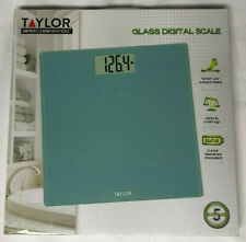 Taylor- Glass Personal Scale Blue 400Lb.