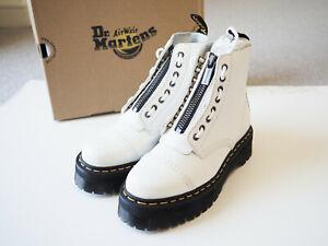 Dr Martens Sinclair Platform Boots White Leather UK7 RRP£189 PROMOTION