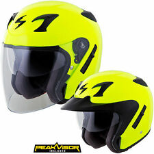 Scorpion EXO-CT220 Solid Open Face Helmet MED, XS, 2XL, 3XL, S  Neon