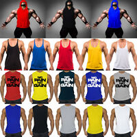 Gym Men's Muscle Sleeveless Tank Top Tee Shirt Workout Summer Sport Fitness Vest