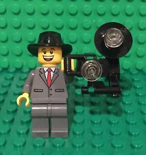 Lego New Tuxedo Suit Photographer Mini Figure W/ MOC Vintage Stock Flash Camera