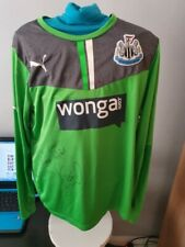 Genuine Hand Signed Tim Krul Newcastle United Goalkeeper Shirt with COA