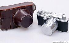 Leitz Leica D.R.P. IIIa mit Xenon 50mm 5cm 1:1,5 M39 + Bereitschaftstasche