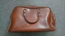 Tan brown leather vintage holdall weekend bag.