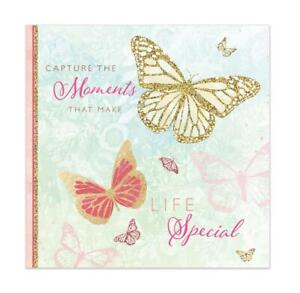 Slip In Photo Album Memo Area Holds 200 6'' x 4'' Photos Butterfly Design