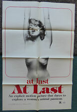 AT LAST AT LAST 1977 ORIGINAL 1 SHEET MOVIE POSTER AKA LA MOGLIE VERGINE