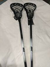 Pair of Nike Aero 10° Black/White Lacrosse Sticks