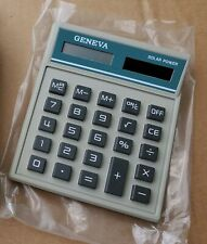 Solar Powered Desk Calculator Angled 8 Digit New Old Stock