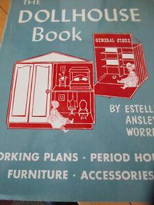 Dollhouse Book Estelle Ansley Worrell 1964 HC/DJ Plans Period Houses Furniture