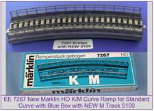 "EE 7267 New Marklin HO Curve Bridge Ramp with Blue OBX with 5100 New ""M"" Track"