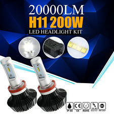 2x Philips H11 H8 H9 200W 20000LM LED Headlight Low Beam Bright Light Bulbs Kit