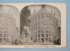 Stereoview Board Of Trade Building Toronto Canada Black & White With Color (O)