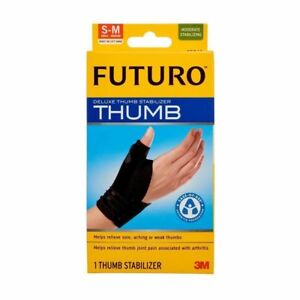 Futuro Deluxe Thumb Stabiliser - Black - Small / Medium