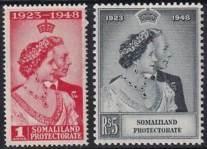 SOMALILAND PROTECTORATE QEII SG119-120, ROYAL SILVER WEDDING set, M MINT.