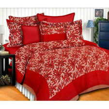 Floral Print 100% Cotton Satin Double Bed sheet With 2 Pillow Cover Set