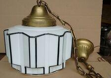 Vintage Art Deco Skyscraper Glass Lamp Shade Ceiling Light Fixture