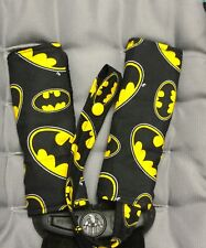 Batman / Minky Car Seat Strap Covers w/ pacifier strap clip - Baby Shower Gift!