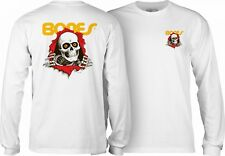 Powell Peralta Bones Ripper Long Sleeve Skateboard Shirt White Xl
