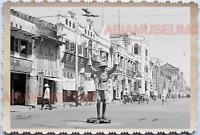 WW2 Traffic Police Street Scene Car Shop British War Old Singapore Photo 17620