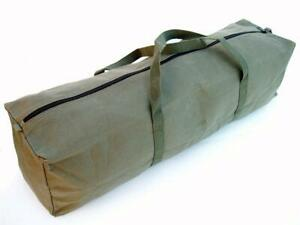 """Canvas Tool Carry Bag Olive 24"""" 30"""" H/Duty Duffle Tote Biker Camping Peg Ropes"""