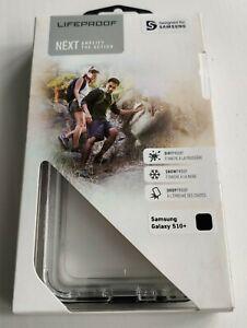 LifeProof NËXT Transparent Slim Black Crystal Case for Samsung Galaxy S10+ Plus